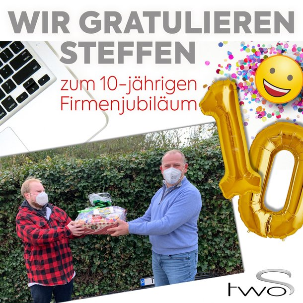 Steffen hat 10 jähriges Firmenjubiläum