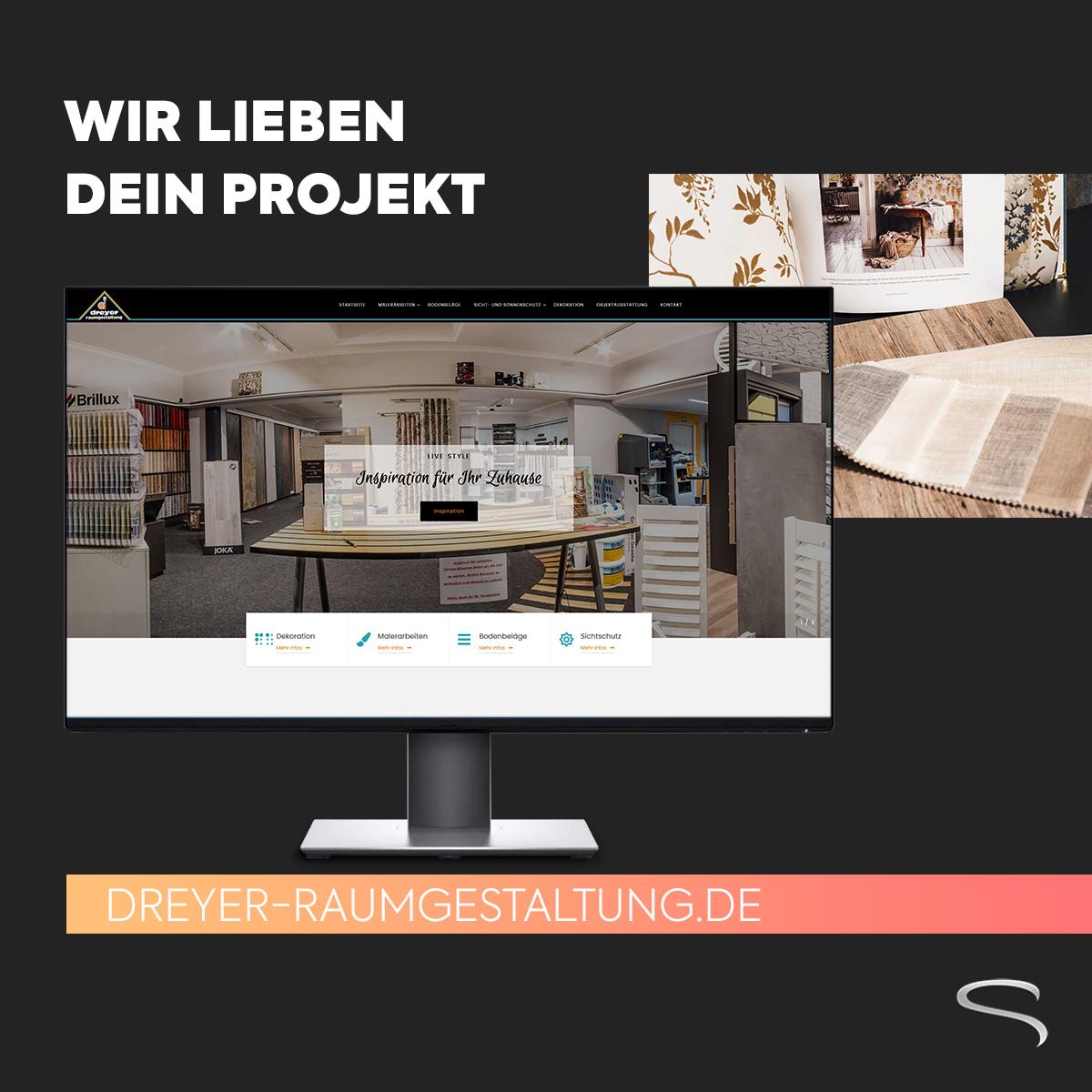 Neue Website Dreyer Raumgestaltung