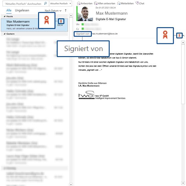 Digitale E-Mail Signatur Outlook