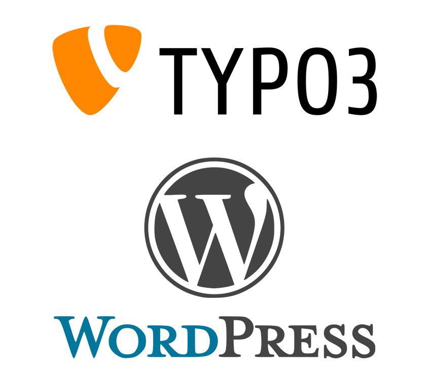 Content Management Systeme (CMS) Typo 3 WordPress